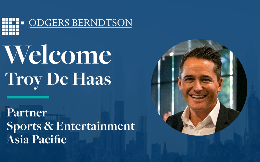 Troy de Haas Joins Odgers Berndtson APAC as Partner and Head of Sport & Entertainment Practice