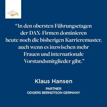 Zitat Klaus Hansen | Odgers Berndtson